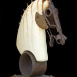 "David Brunetta, ""Horse Head""Concrete and Metal Sculpturefoapac No. 2010.021"