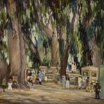 "Joane Cromwell, ""Festival in Laguna Beach""oil-on-canvas, c. 1935foapac No. 1990.076"