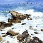 """Roger Folk, """"Shore Patrol""""watercolor, c. 1991foapac"""