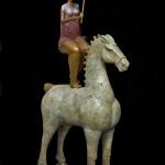 "Ralph Tarzian, ""Girl on Horse""bronze sculpture, c. 2007foapac No. 2010.006"