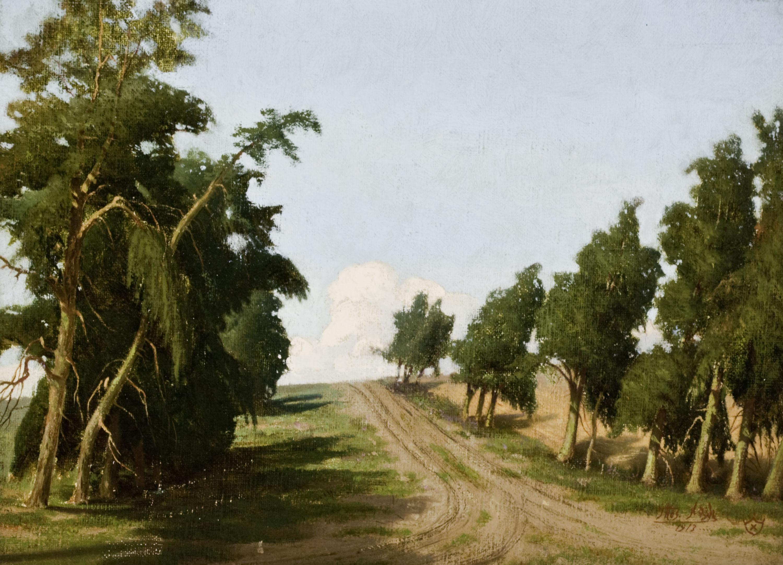 """Thomas Nash, """"On the Road to Laguna""""oil on panel, 1913foapac no. 1990.055"""